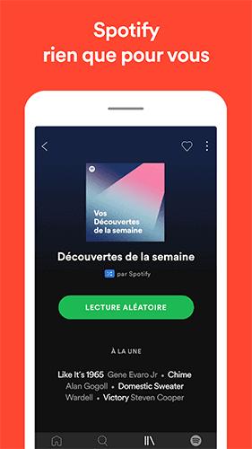 Capture d'écran Spotify Premium Mod